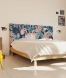 Tête de lit 160 cm Bleu Vert Morgane Bezou Faune