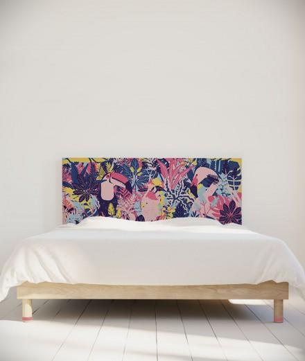 Tête de lit 160 cm Violet Rose Morgane Bezou Faune
