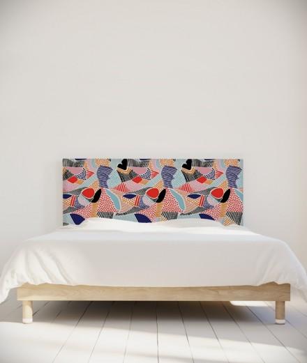 Tête de lit 160 cm Rose Bleu Myriame El Jorfi Zou'