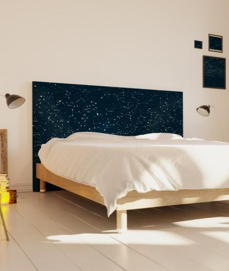 Tête de lit 160 cm Bleu Emmanuel Somot Constellation