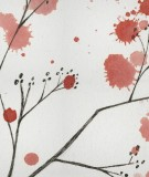 tete-de-lit-tissu-blanc-rose-arbre-axelle-grosperrin