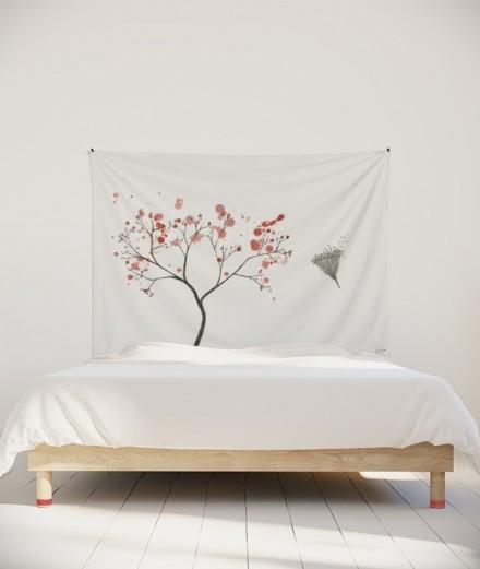 tenture-M-lit-160-blanc-rose-arbre-axelle-grosperrin