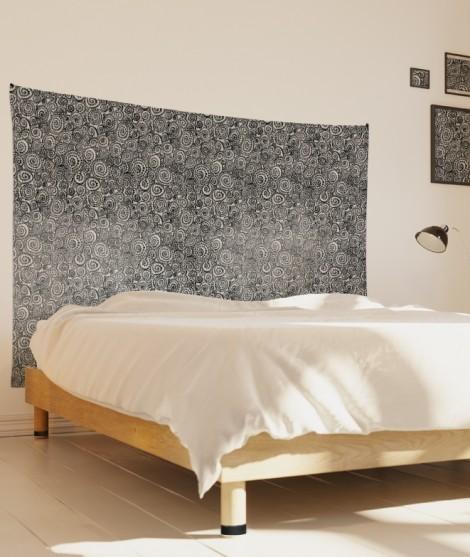 tenture-M-lit-160-noir-blanc-suzy-vergez-spirales