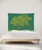 tenture-chambre-S-lit-140-vert-clair-jennifer-yerkes-fleurs-d-inde