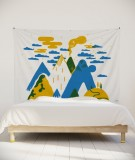 tenture-murale-L-lit-180-jaune-laurent-moreau-volcan