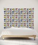 tenture-murale-L-lit-180-bleu-jaune-rouge-grand-myriame-el-jorfi-han
