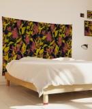 tenture-M-lit-160-noir-rouge-jaune-marion-hamaide-flamant