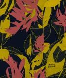 tete-de-lit-en-tissu-noir-rouge-jaune-marion-hamaide-flamant