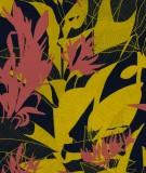 tete-de-lit-tissu-noir-rouge-jaune-marion-hamaide-flamant