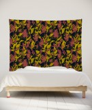 tenture-murale-L-lit-180-noir-rouge-jaune-marion-hamaide-flamant