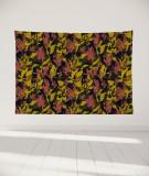 tapisserie-murale-L-lit-180-noir-rouge-jaune-marion-hamaide-flamant