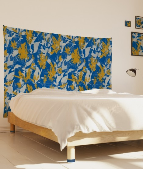 tenture-M-lit-160-bleu-jaune-marion-hamaide-flamant