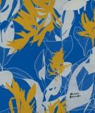 tete-de-lit-en-tissu-bleu-jaune-marion-hamaide-flamant