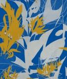 tete-de-lit-tissu-bleu-jaune-marion-hamaide-flamant