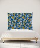 tenture-chambre-S-lit-140-bleu-jaune-marion-hamaide-flamant