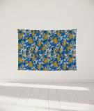tenture-murale-S-lit-140-bleu-jaune-marion-hamaide-flamant