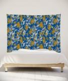 tenture-murale-L-lit-180-bleu-jaune-marion-hamaide-flamant