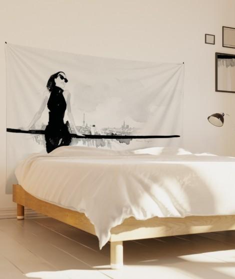 tenture-M-lit-160-blanc-noir-terrasse-hossein-borojeni