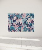 tenture-murale-S-lit-140-rose-vert-bleu-morgane-bezou-faune