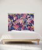 tenture-chambre-S-lit-140-rose-violet-bleu-morgane-bezou-faune
