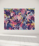 tapisserie-murale-L-lit-180-rose-violet-bleu-morgane-bezou-faune