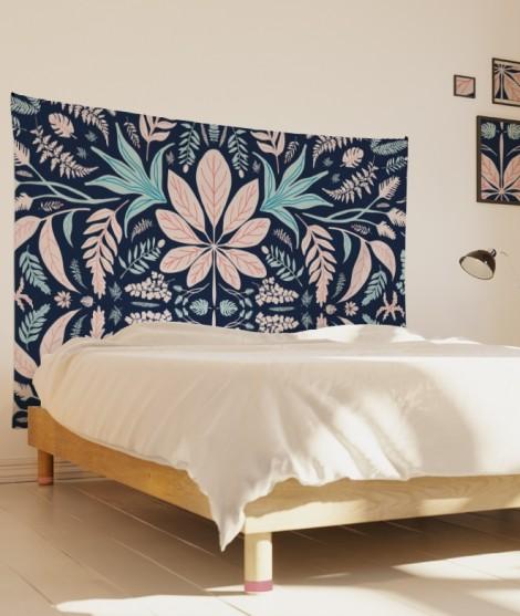 tenture-M-lit-160-bleu-rose-morgane-bezou-kaleidoscope