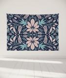tapisserie-murale-L-lit-180-bleu-rose-morgane-bezou-kaleidoscope