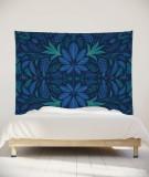 tenture-murale-L-lit-180-bleu-fonce-morgane-bezou-kaleidoscope
