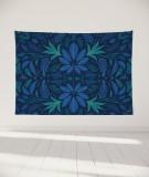 tapisserie-murale-L-lit-180-bleu-fonce-morgane-bezou-kaleidoscope