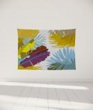 tenture-murale-S-lit-140-jaune-marron-coco-hellein-bananier