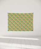 tenture-murale-S-lit-140-jaune-Uroko-paraja