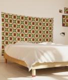 tenture-chambre-S-lit-140-rouge-beige-maya-thomas-phasmidae