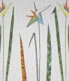 Tête de lit Vert Blanc Axelle Grosperrin Fleur