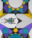 Tête de lit Turquoise Maya Thomas Blattidae