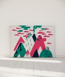 Tête de lit 160 cm Vert Rose Laurent Moreau Volcan