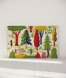 Tête de lit 180 cm Jaune Vert Laurent Moreau Forêt