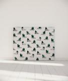 Tête de lit 140 cm Blanc Vert Organe Kauffmann Ça pique
