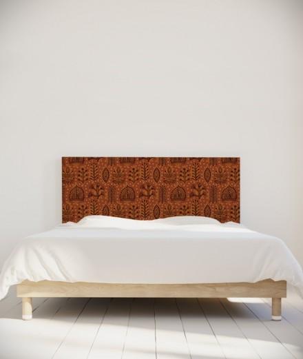 Tête de lit 160 cm marron Suzy Vergez Plantes
