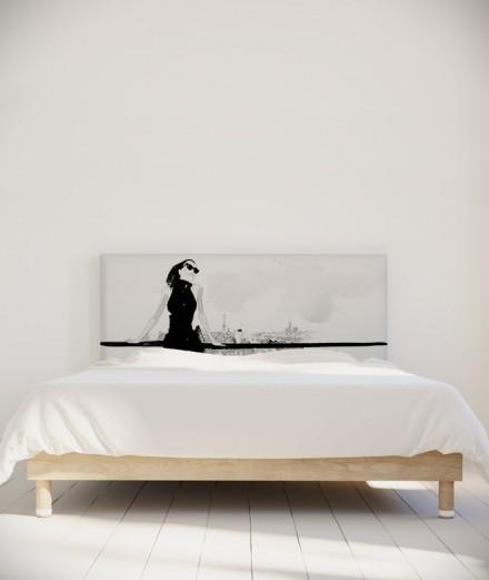 Tête de lit 160 cm Noir Blanc Hossein Borojeni Terrasse