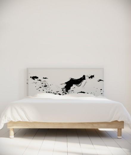 Tête de lit 160 cm Noir Blanc Hossein Borojeni Silence