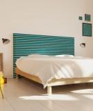 Tête de lit 160 cm Turquoise Paraja Marinière