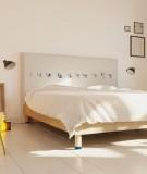 Tête de lit 160 cm Blanc Bleu Bastien Massot Samouraï